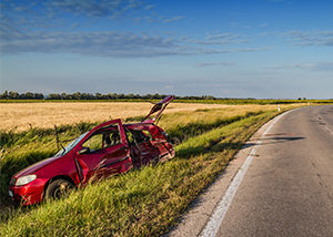 Car Accident From Drowsy Driver North of Highway 95 in Idaho